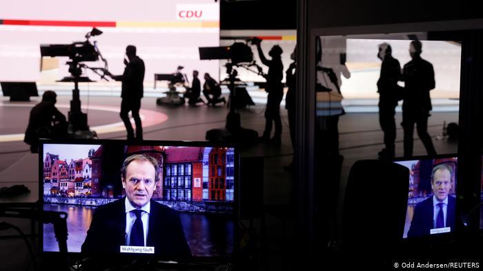 33. Parteitag der CDU 2021 |Grußwort Donald Tusk, EPP