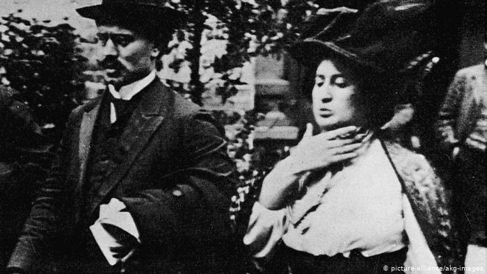 Rosa Luxemburg und Karl Liebknecht 1909