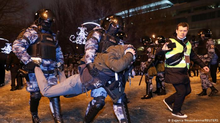 Russland | Verhaftung Nawalny | Proteste in Moskau