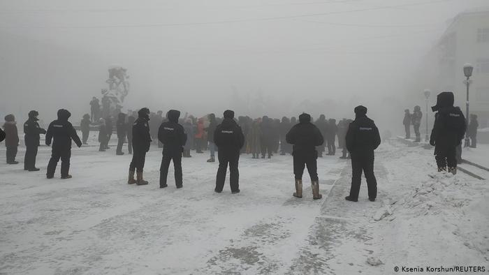 Russland | Verhaftung Nawalny | Proteste in Jakutsk