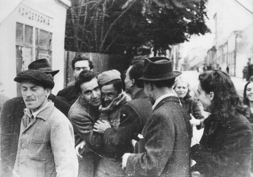 Beograd oktobra 1944, doček oslobodilaca, foto: nepoznati autor/Wikimedia Commons