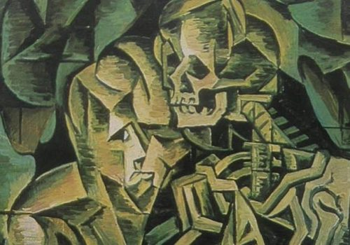 Bohumil Kubišta, Poljubac smrti, 1912. (detalj)