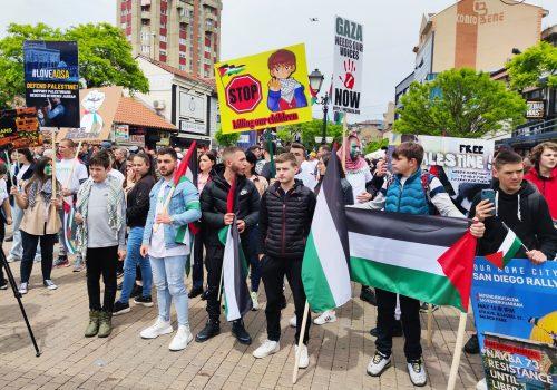 Rožaje'de (Rojaye) Filistin'e Destek Amaçlı Protesto Yapıldı_60bb9d45cdbaa.jpeg